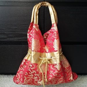 NWOT Red and gold Chinese handbag